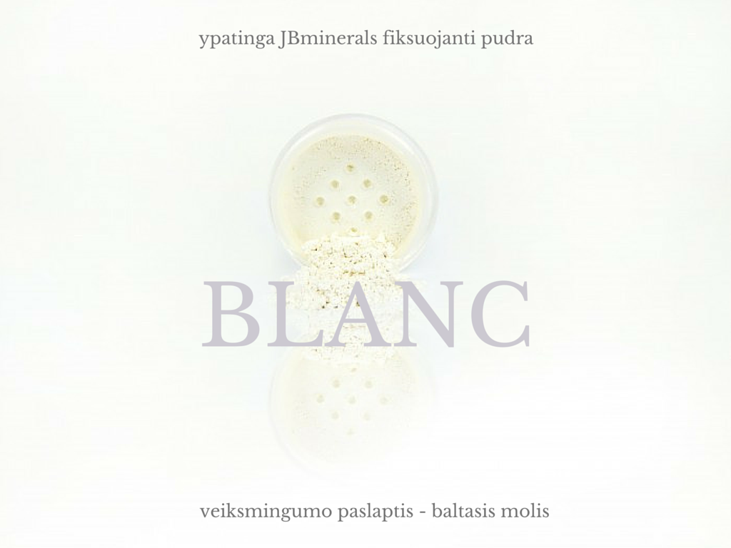 natūrali mineralinė fiksuojanti pudra BLANC